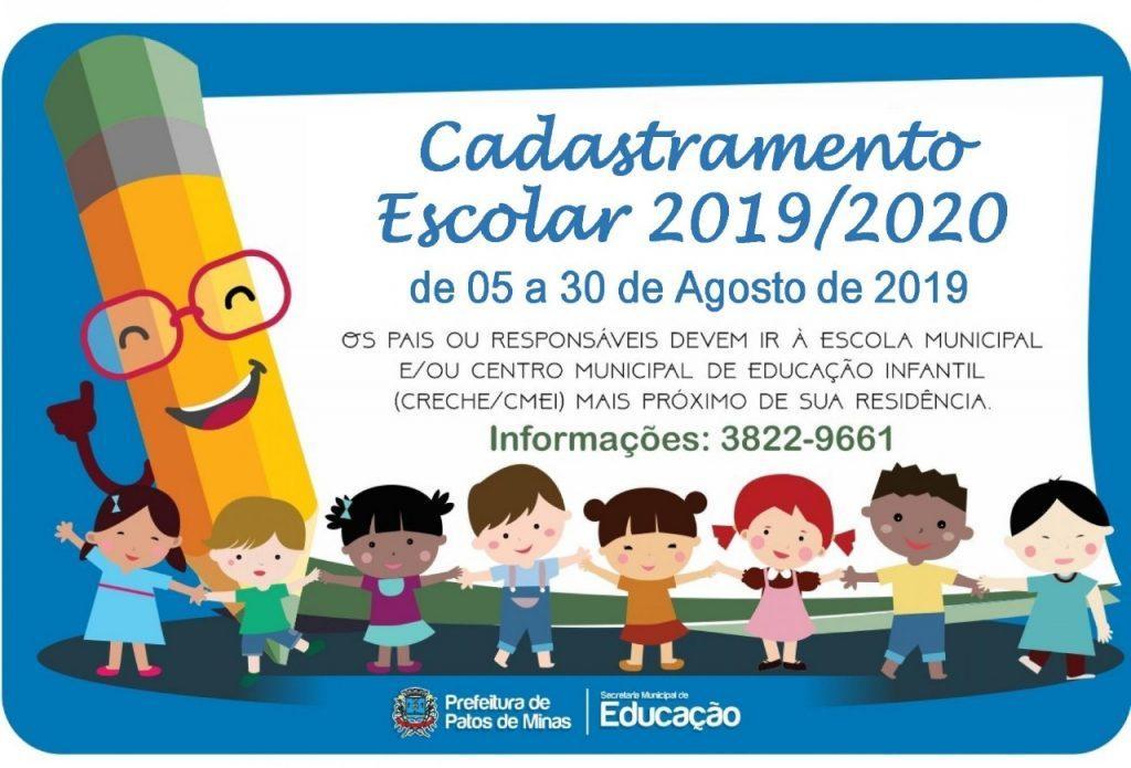 Patos de Minas: Cadastramento escolar termina na próxima semana