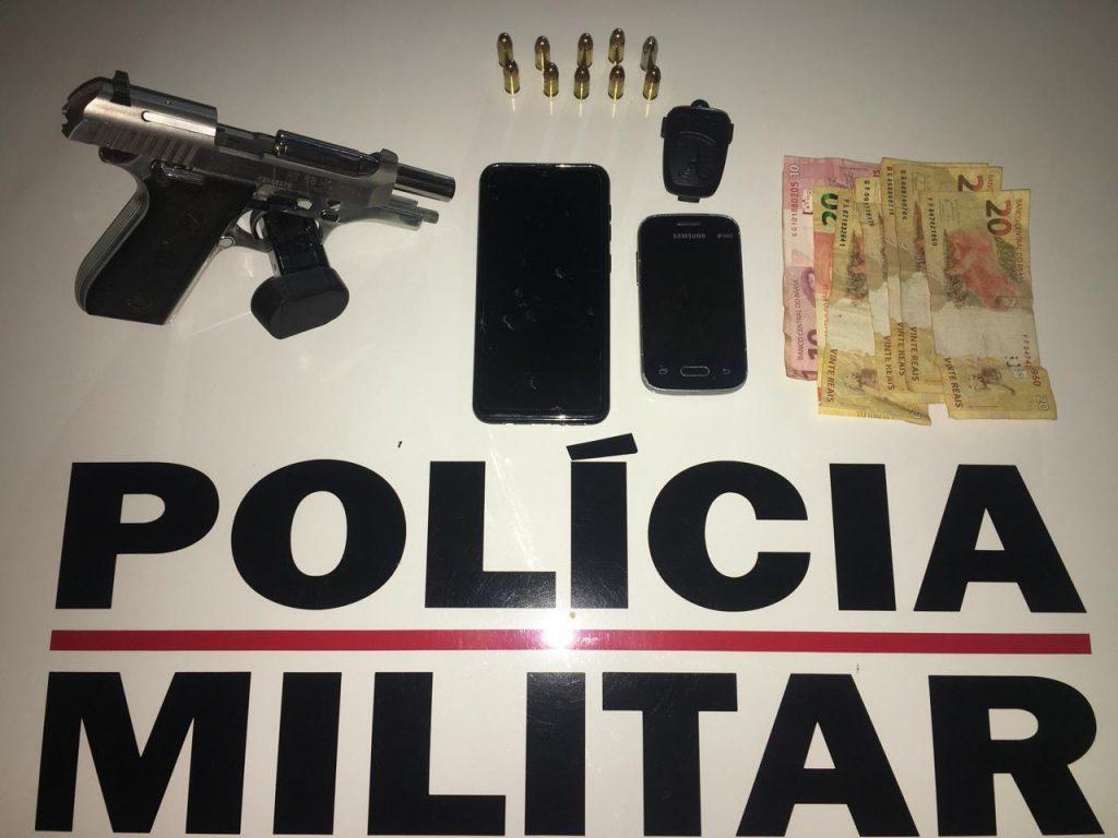 Conhecidos da polícia são presos com arma em Monte Carmelo