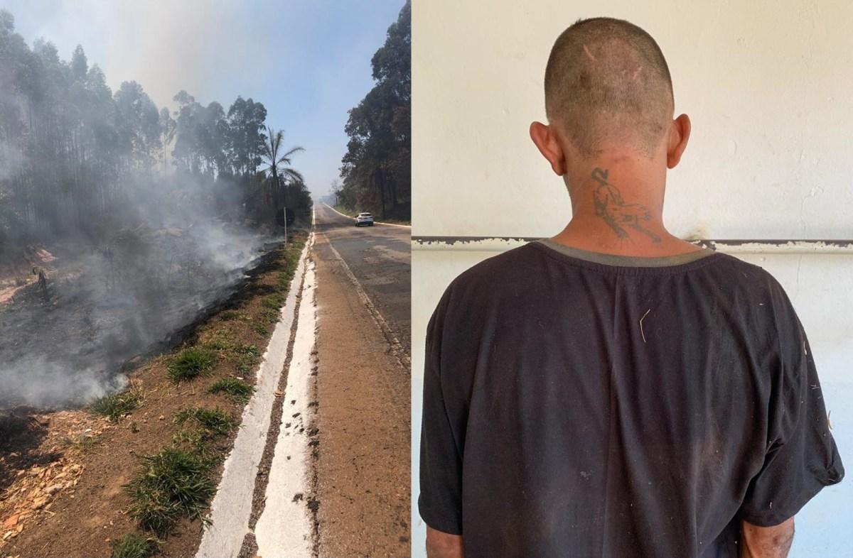 Suspeito de atear fogo em mato é preso na MG-190 em Monte Carmelo
