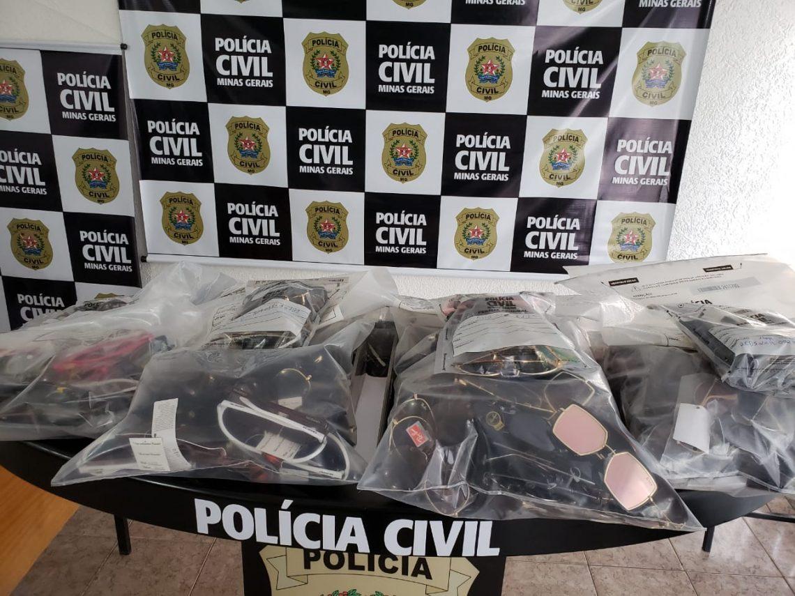 Mais de mil óculos impróprios são apreendidos em Patos de Minas