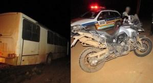 Eixo de ônibus se solta e motoqueiro fica ferido na MG 410