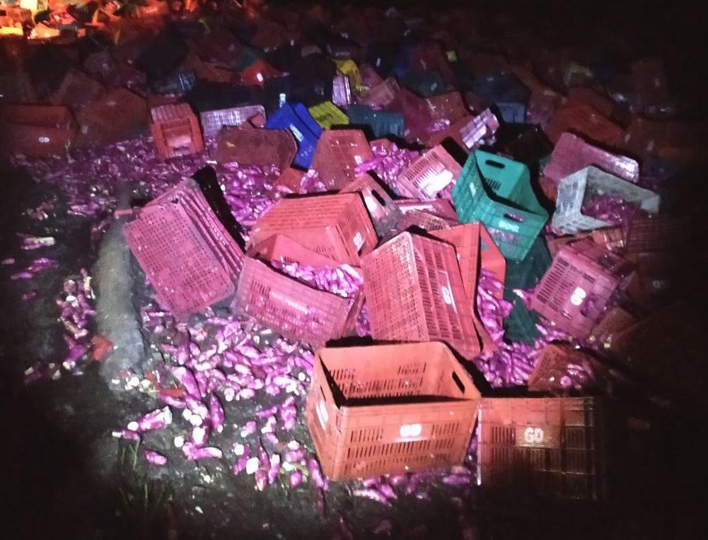 Acidente BR 146 Serra do Salitre Batata Doce