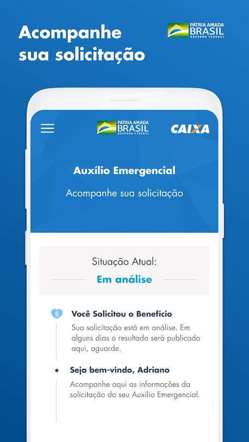 Acompanhar solicitação do auxílio emergencial