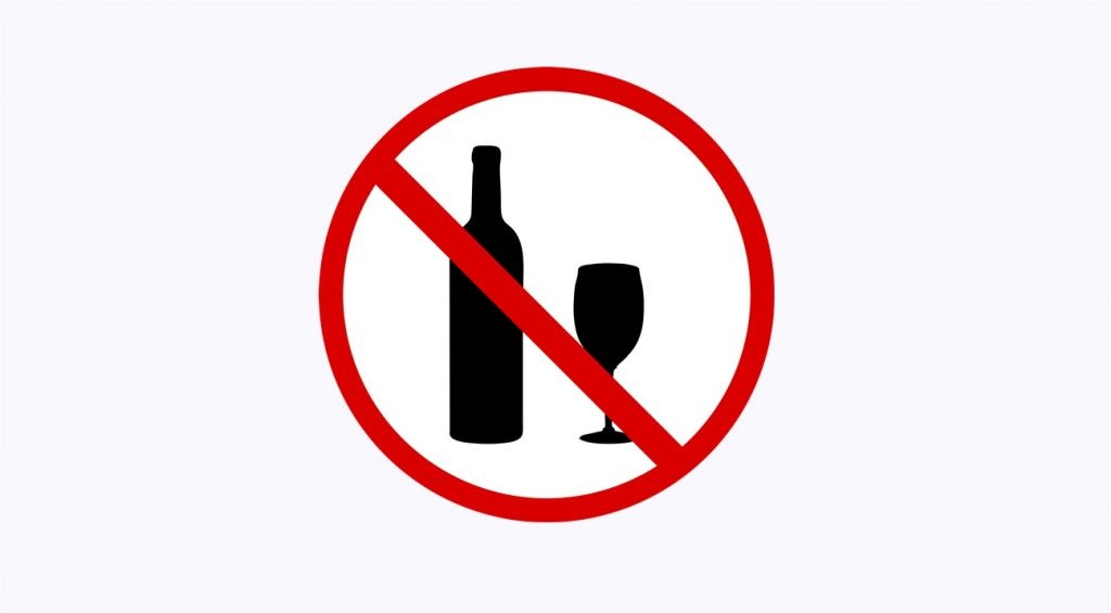 Bebida alcoólica proibida