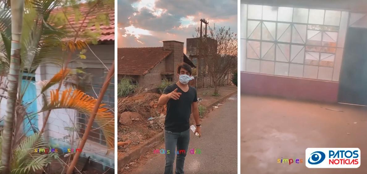 Vereador de Patos de Minas mostra creche abandonada e pede destinação ao imóvel