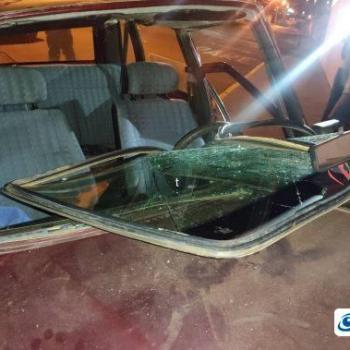 carro cravejado de tiros é encontrado em Patos de Minas