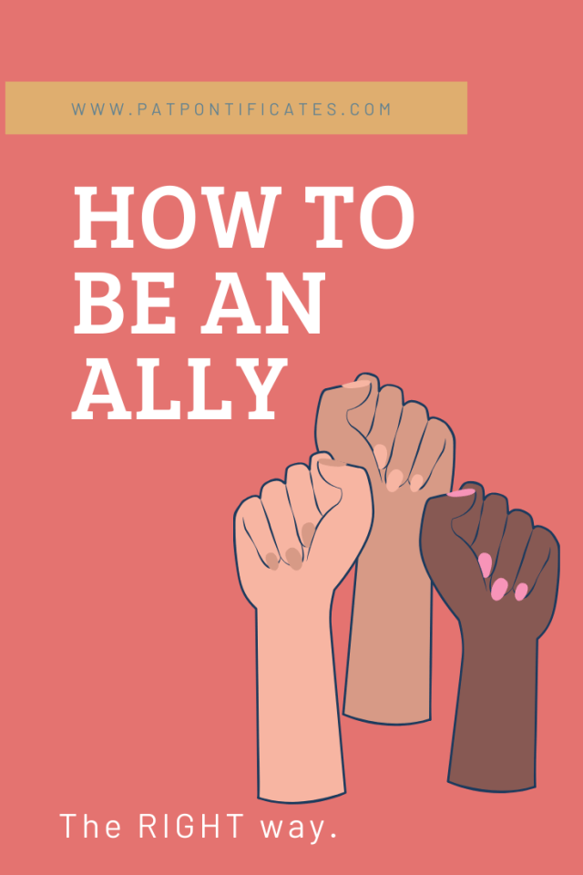 how to be an ally - pinterest image