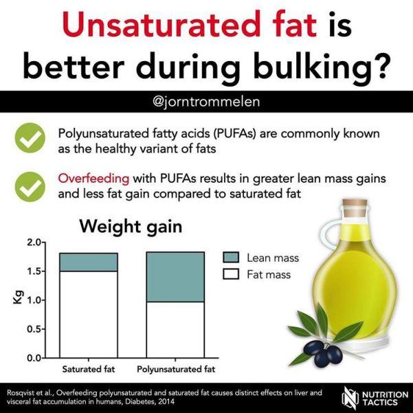 """Nicht einmal Fettkalorien sind pauschale """"Fettkalorien"""": Das Ergebnis der Rosqvist-Studie zeigt, dass verschiedene Fettsäuren, etwa pflanzliche gesättigte und mehrfach-ungesättigte Fettsäuren, vom Körper unterschiedlich genutzt werden."""