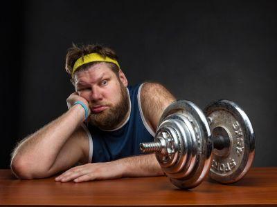 Bauen übergewichtige & fettleibige Menschen schlechter Muskeln auf?