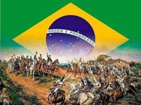 Bolsonaro faz homenagem à Independência do Brasil.