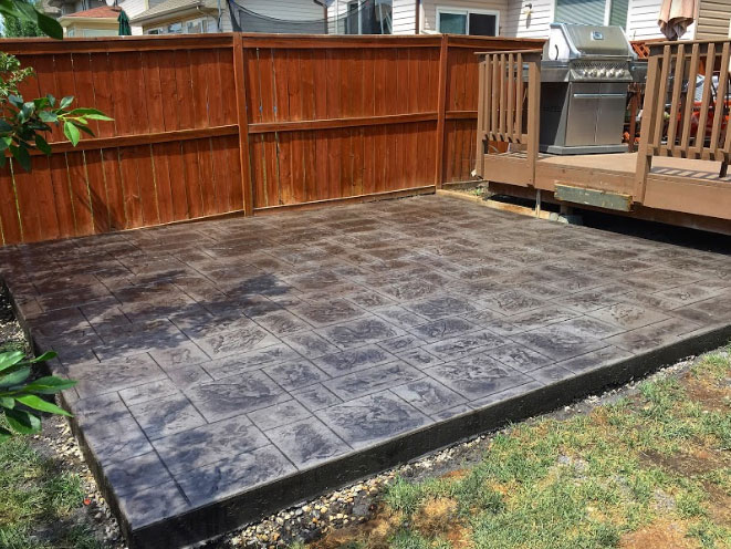 stamped concrete patterns calgary