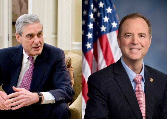 Robert Mueller and Adam Schiff