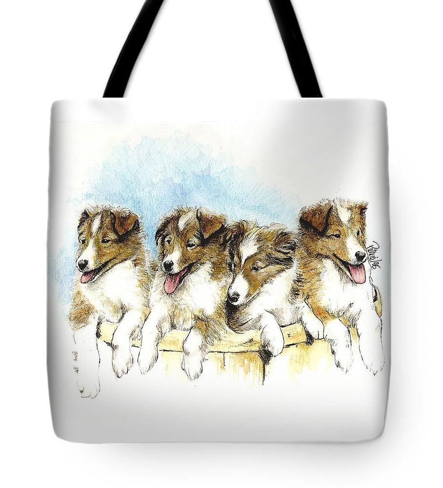 Sheltie Pups Tote-Bag - Product by Patrice