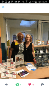 Enjoying the warm and hospitality of Lambeth Library with Stella Duffy