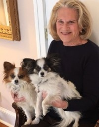 Patricia with her dogs