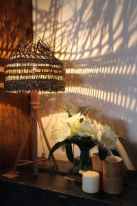 Lampe en vannerie sauvage