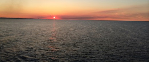Adriatic Sunset from the ferry