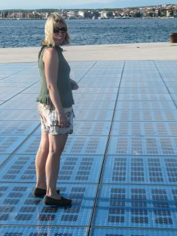 Touring Zadar--the solar disco ball.
