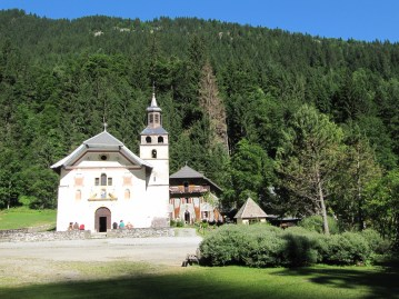 A pretty church just outside of Les Contamines