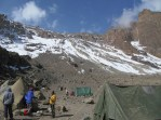 Arriving to Arrow Glacier Camp.