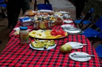 Lunch at Mweka Gate.