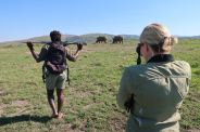 John and I went on a bush walk with Nunu, our Zulu guide.