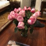 Lovely Roses waiting in our room