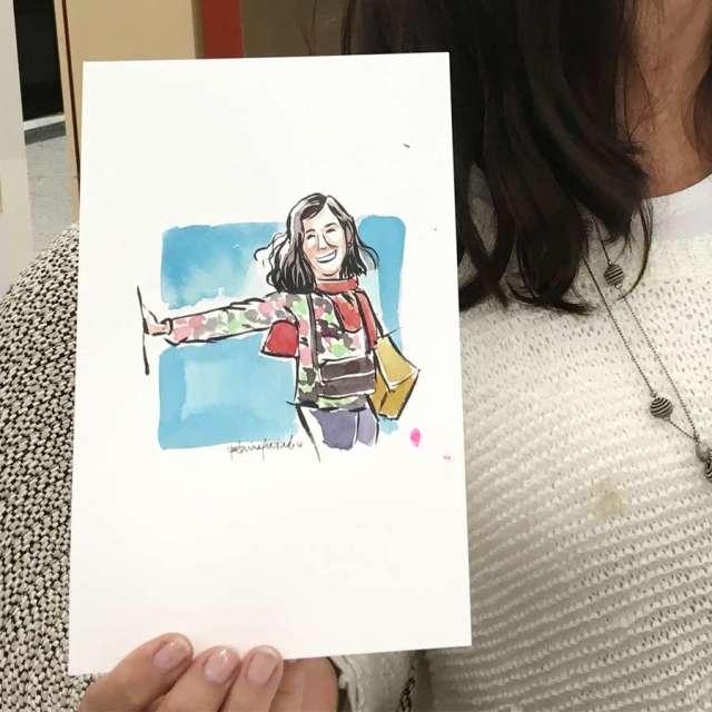 Watercolour quick portrait