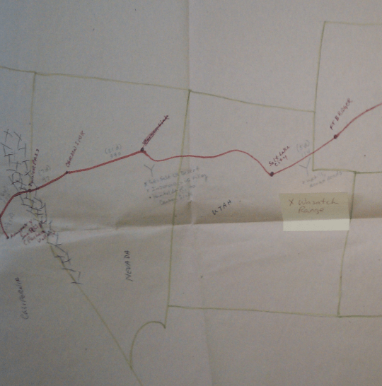 Map from Under Wraps (Western)