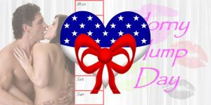 Horny Hump Day Logo - 4th of July