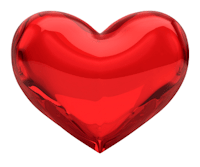 Shiny Red Valentine's Day Heart