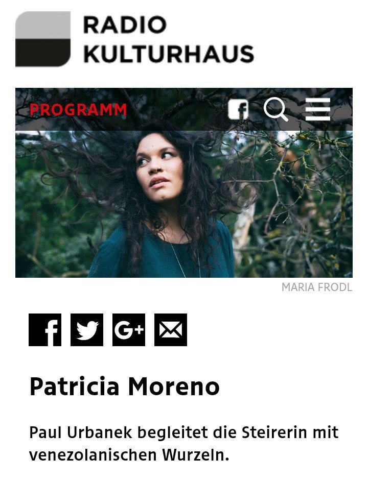Patricia Moreno - the Jazz Singer live on air
