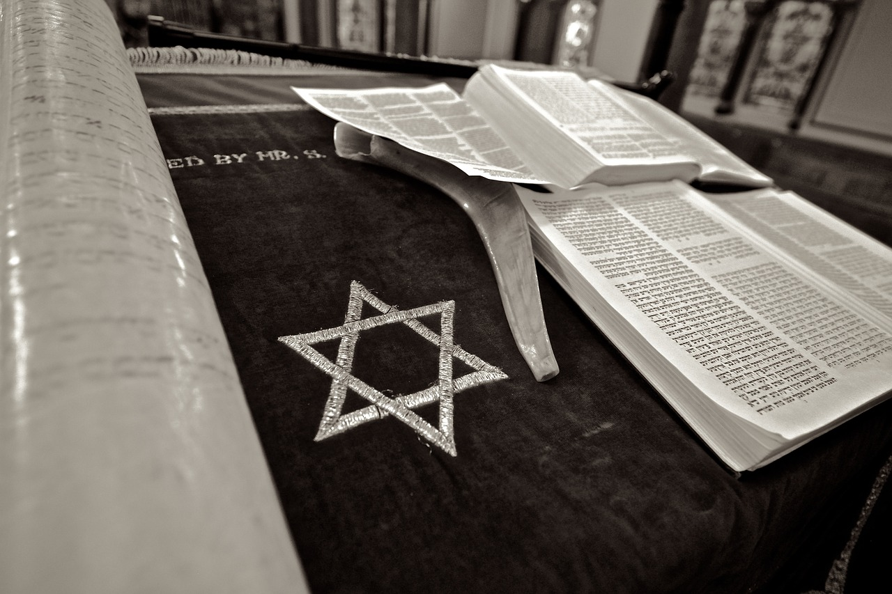 Star of David and Bible