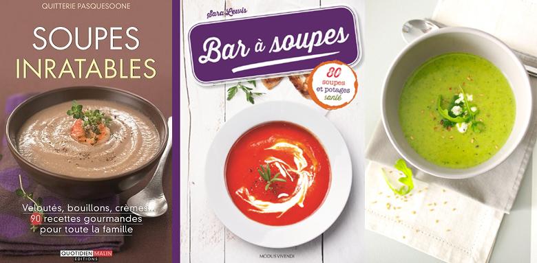 Autour d'une soupe, livres, recettes.