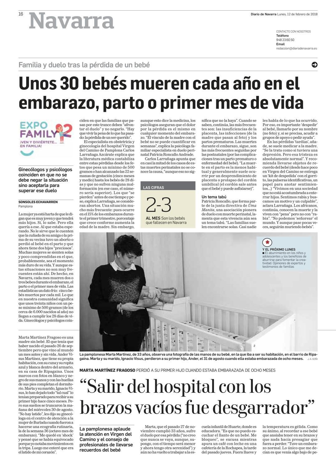 Duelo perinatal Diario de Navarra