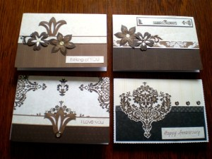 The Divine StoryBox papers, Ribbons and Flowers make very elegant cards for special occasions such as Weddings and Anniversaries.