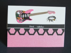 Rock chick handcrafted card