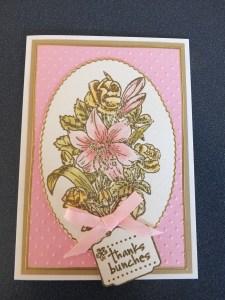 Embossed flowers card