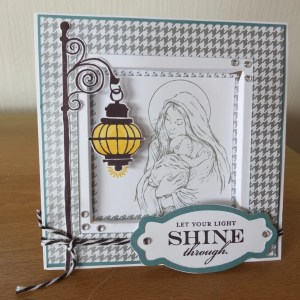 Recessed window card using CTMH November SOTM Illuminate , and Holidays from the