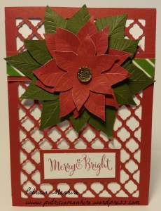 CTMH Artfully Sent Red Poinsettia Christmas card