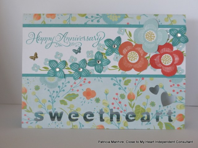 #CTMH Artfully Sent Card using Blossom and Shower Flowers