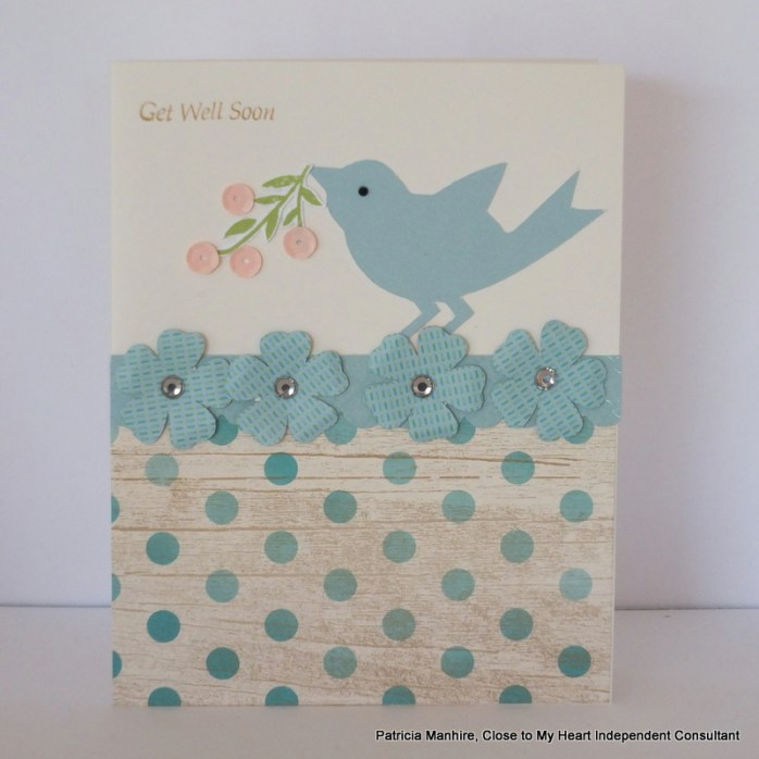 #CTMH Seaside and Blossom Get Well Card