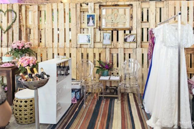 Stand decorado por nós para o Ateliê Gora (noivas).