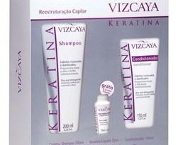viscaya - Kit Reconstrução Capilar Keratina - Vizcaya