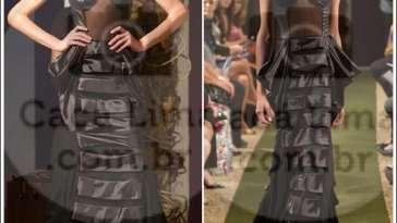 """Karina Viega Frente1 - Moda Paris – Desfile da Coleção """"Catedral de Notre-Dame"""" de Hingrid Grassi"""