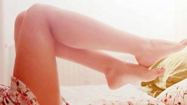 pe mulher produtos de beleza - Com os pés nas nuvens