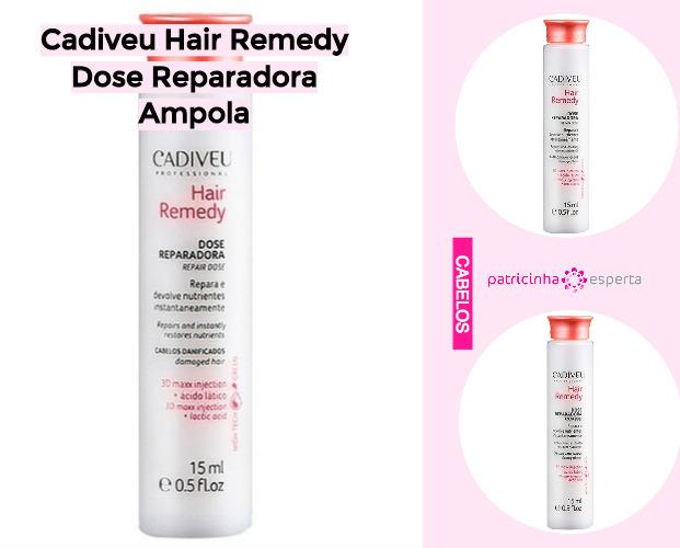 Cadiveu Hair Remedy Dose Reparadora Ampola - Produtos Para Cabelos Danificados: Favoritos de 2019 - Top 8