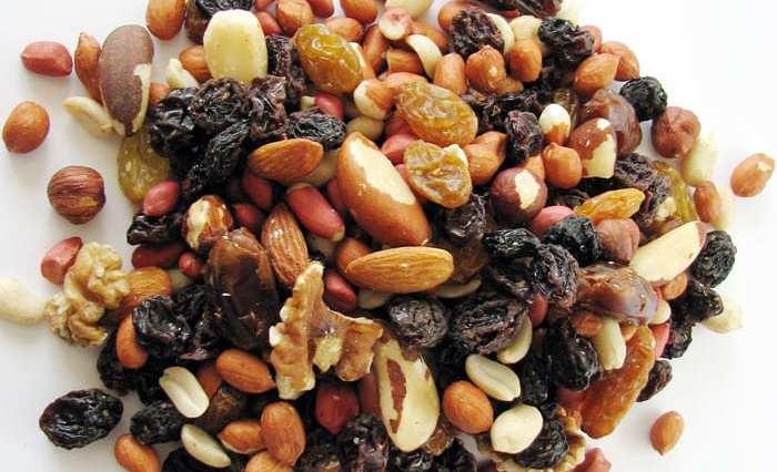 frutas secas interna - Seu cabelo é o que você come!