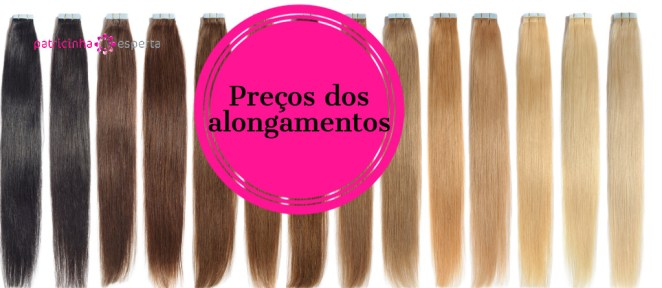 various colors of straight adhesive tape in human hair extensions picture id635818084 - Alongamento de cabelo: o guia completo