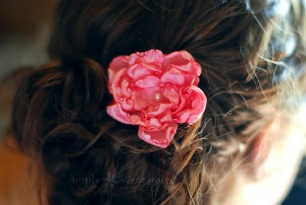 DIY Hair Accessories Flower Hair Accessory - Penteados fáceis de fazer